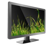 Tv with grass stock image