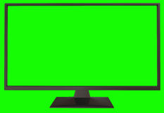 TV with green screen Royalty Free Stock Image