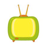 TV green vector on white background Royalty Free Stock Image