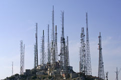 TV and GSM transmitter towers Royalty Free Stock Photography