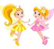 Två gulliga feer Royaltyfria Bilder
