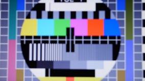 Tv hałasu koloru barów statyczny sygnał zbiory