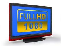 TV HD pieno Immagini Stock Libere da Diritti