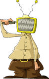 TV head Stock Image