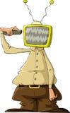 TV head. A man with a TV head, vector Stock Image