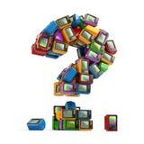 TV-het uitzenden concept Vraagteken van uitstekende TV stock illustratie