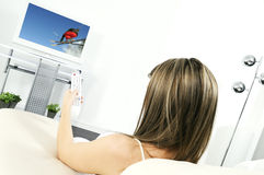 Tv at home Royalty Free Stock Image
