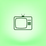 TV icon. Flat design style. Vector illustration Stock Images