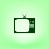 TV icon. Flat design style. Vector illustration Stock Photos