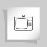 TV icon. Flat design style. Vector illustration Royalty Free Stock Photo