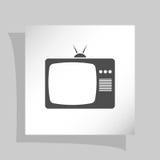 TV icon. Flat design style. Vector illustration Royalty Free Stock Image