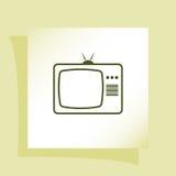 TV icon. Flat design style. Vector illustration Stock Photography