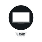 Tv icon. Internet of things design. Vector graphic Royalty Free Stock Image