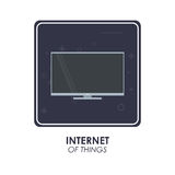 Tv icon. Internet of things design. Vector graphic Stock Photos