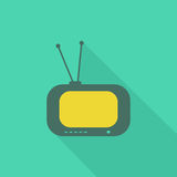 TV icon2 plat Photographie stock
