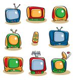 TV Icon Set Royalty Free Stock Photos