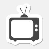 Tv icon sticker Stock Photos