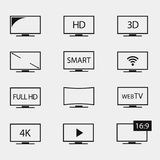 TV icon vector stock illustration