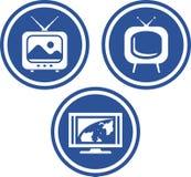TV - Iconos del vector Foto de archivo