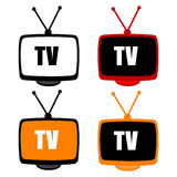 Tv icons Royalty Free Stock Photography