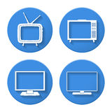 TV Icons Stock Photography