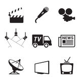 TV Icons Stock Images
