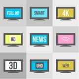 TV icons set. Royalty Free Stock Image