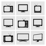 TV icons set Stock Photography