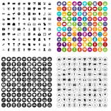 100 TV icons set vector variant. 100 TV icons set vector in 4 variant for any web design isolated on white Stock Photography