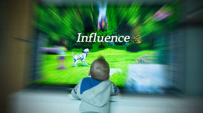 TV Influence Stock Photography