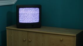 TV ingen signal stock video