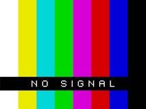 TV ingen signal Fotografering för Bildbyråer