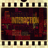 TV interaction filmstrip grunge vintage retro Royalty Free Stock Photo