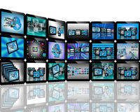 TV on the Internet. Abstract view of the many different images to the Internet for designers for various necessities Stock Photography