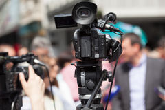TV interview Royalty Free Stock Images