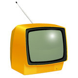 TV isolated vintage Stock Image