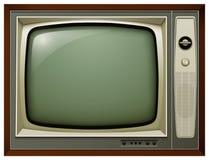 TV isolated vintage Stock Photo