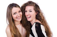 Två isolerade kvinnliga vänner Royaltyfri Fotografi