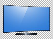 TV 4k het ultrahd-scherm, leidde TV geïsoleerde transparancyachtergrond Vector Illustratie