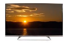 TV - 4K resolutie moderne televisie Royalty-vrije Stock Foto's