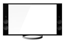 Tv 4k. 4k Ultra high definition television isolated on white stock illustration