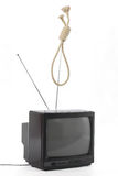 TV killer concept Stock Photos