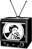 TV Lady Royalty Free Stock Image