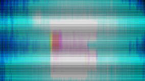 TV-lawaai cauntdaun stock illustratie