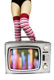 Tv legs Stock Image
