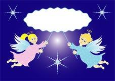 Två lite änglar Arkivbild