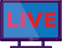 TV live. Illustration clip-art vector eps Royalty Free Stock Photography