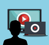 TV live stream Royalty Free Stock Images