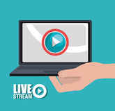 TV live stream Stock Image