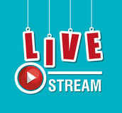 TV live stream. Graphic design,  illustration eps10 Stock Images